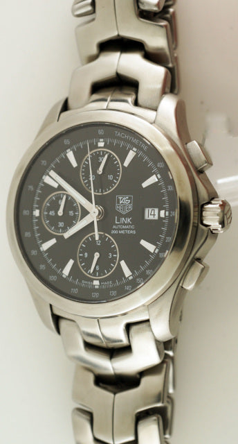 Stainless steel Tag Heuer Link Automatic Chronograph Watch