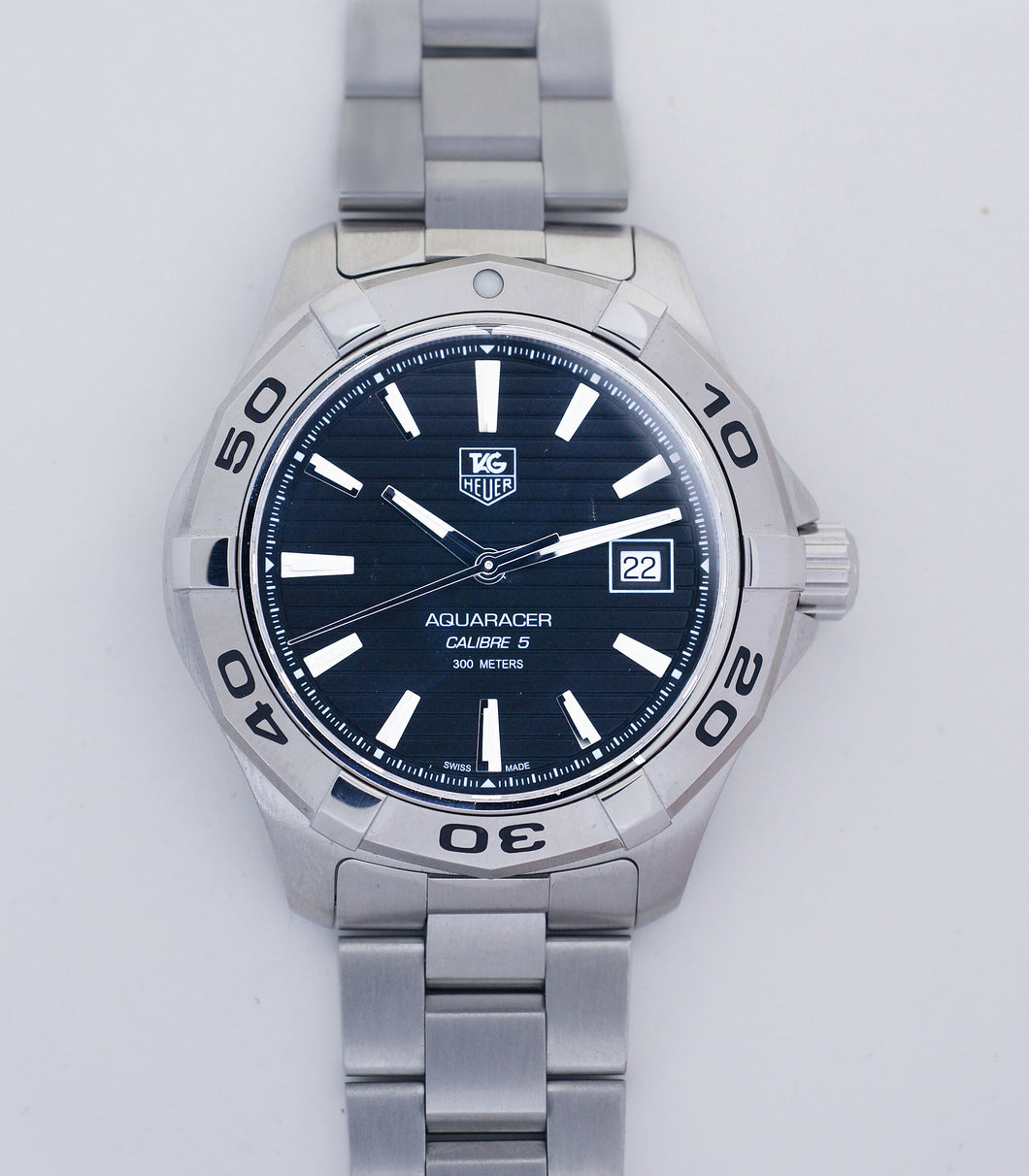 Tag Heuer Aquaracer WAP2010 Calibre 5 Stainless Steel Automatic Mens Watch