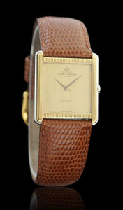 Baume & Mercier 14k Yellow Gold & Stainless Steel Square Tank Watch 4749.011.3
