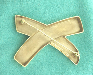 "Tiffany & Co. Paloma Picasso 18k Yellow Gold ""X"" Kiss Pin"