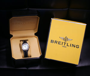 Breitling Callistino Windrider B72345 18k Yellow Gold & Stainless Steel MOP Diamond Dial Ladies Watch