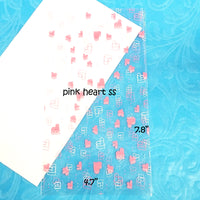 Printed Pretty Hearts Cello Bags