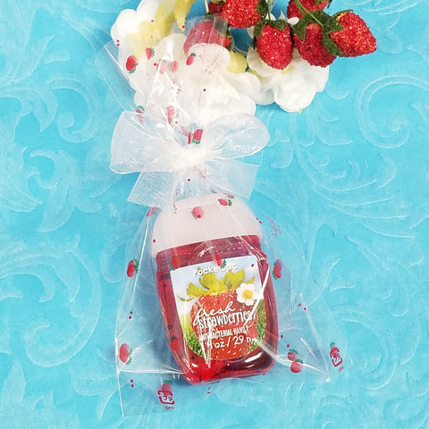 Printed Strawberry Cello Bags