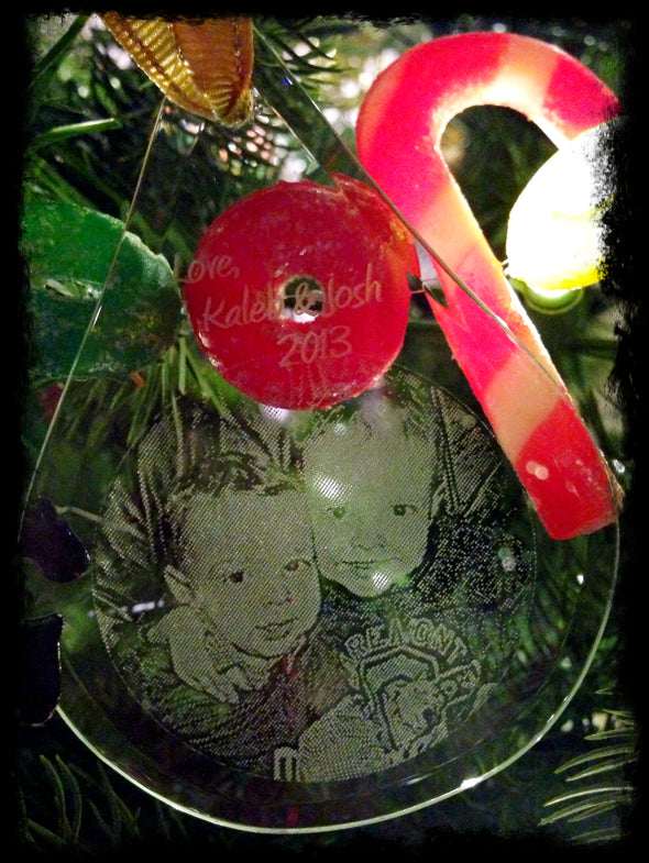 Glass keepsake ornaments