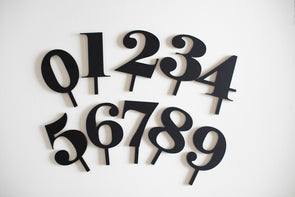 Numeric Cake Topper Sets