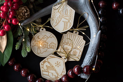 Birch Ornament Set