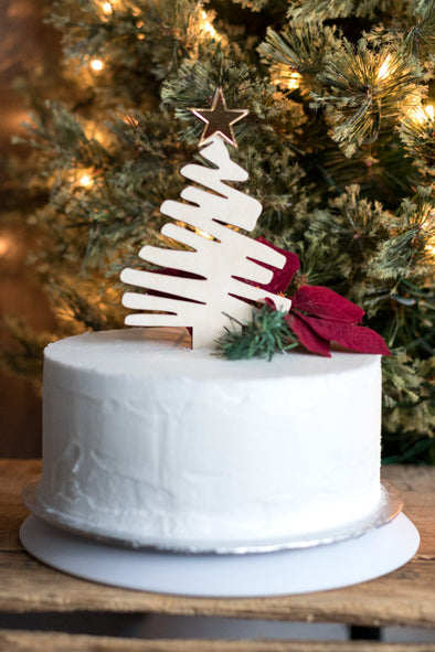 Rustic Christmas Tree Cake Topper