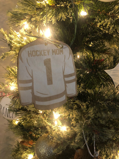 #1 Hockey Mom Ornament