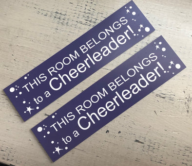 Door Sign - This Room Belongs to a Cheerleader