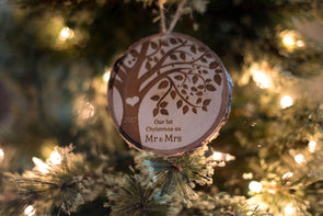 Custom Tree Slice Ornament