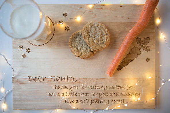 Dear Santa - Milk & Cookies Board