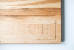 Monogrammed Maple Cutting Board