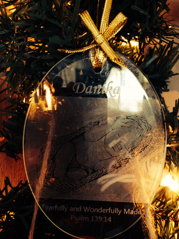 Custom Glass Keepsake Ornament