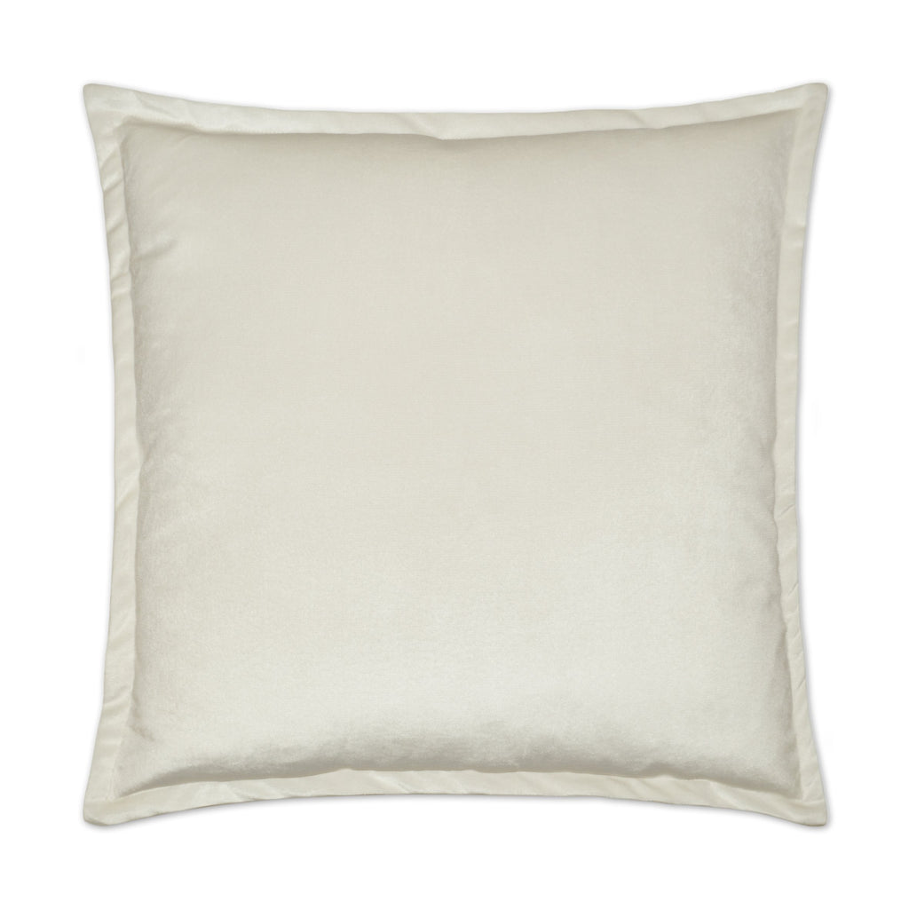 Belvedere Flange Pillow in Ivory