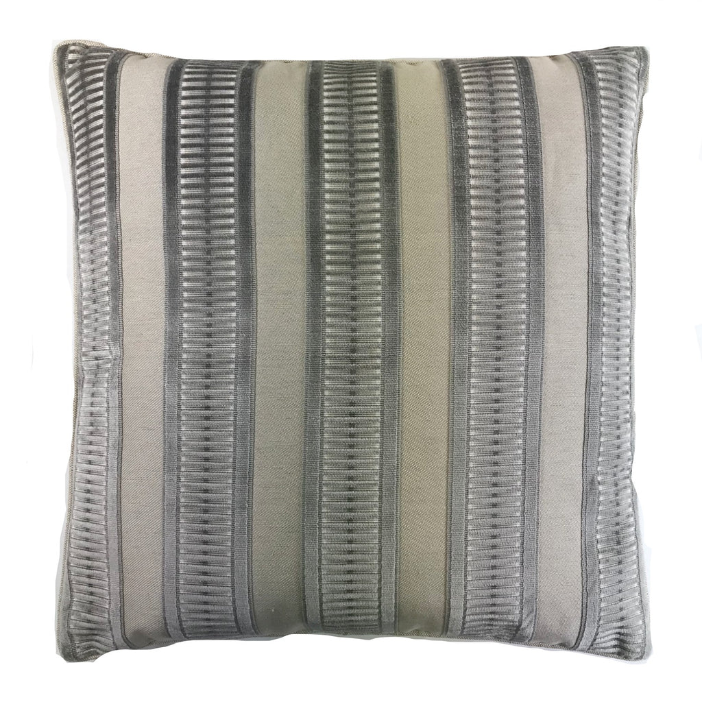 Railroad Silver Accent Pillow