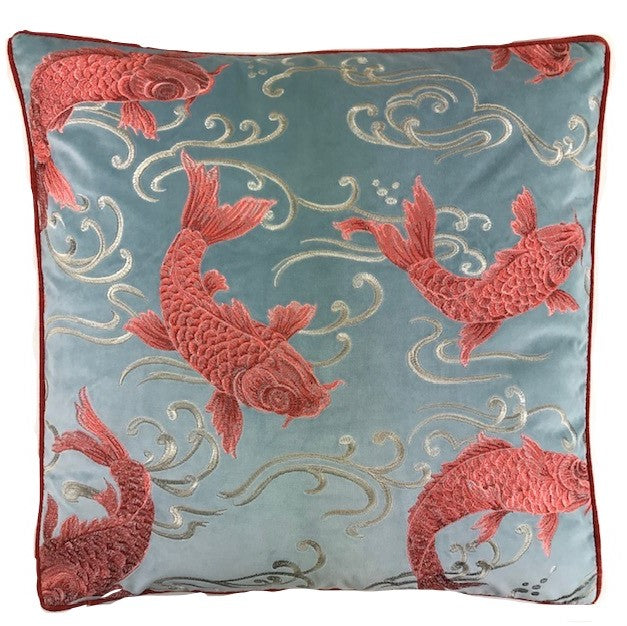 Upstream Coral Accent Pillow
