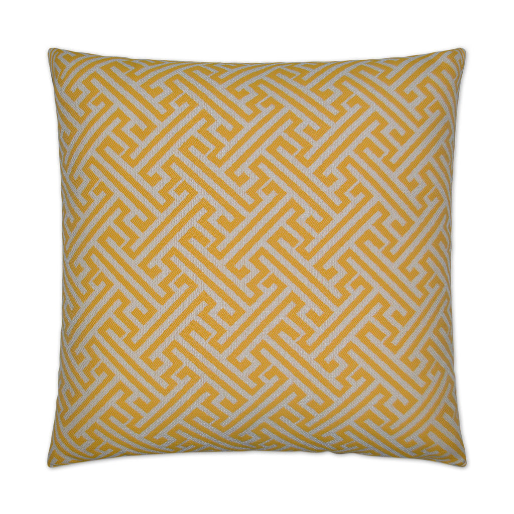 Amazed Pillow in Yellow