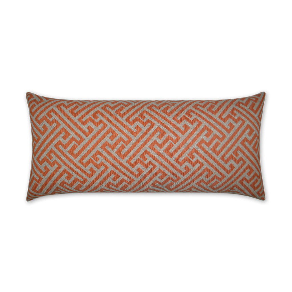 Amazed Lumbar Pillow in Orange