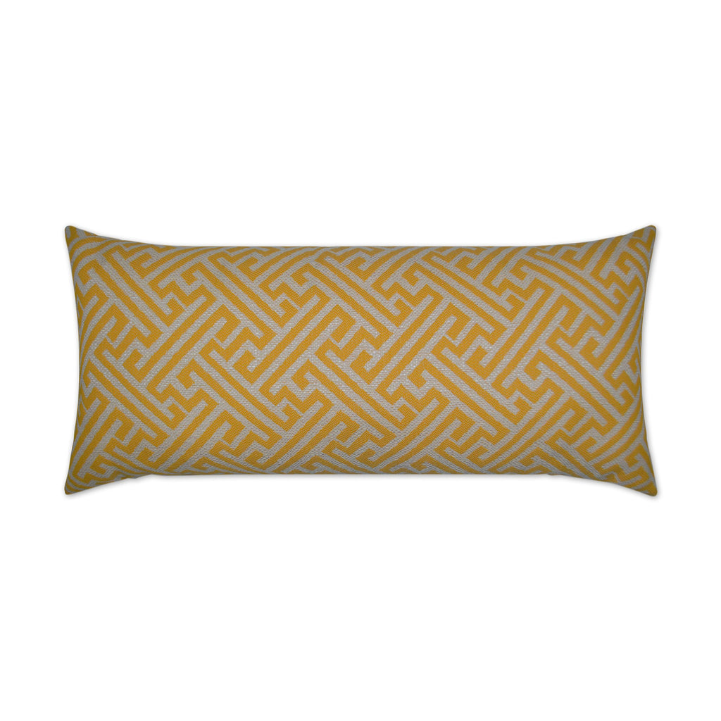 Amazed Lumbar Pillow in Yellow