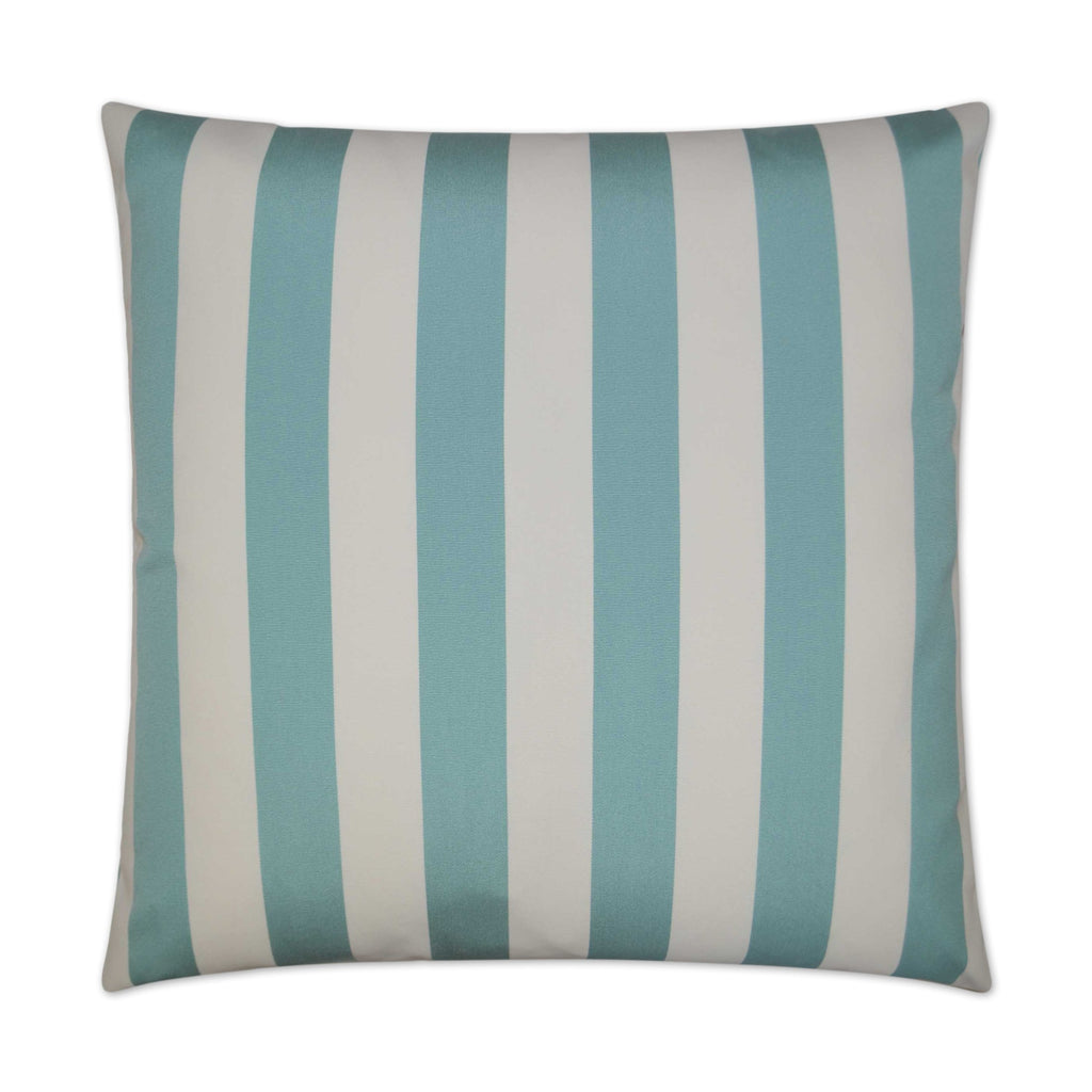 Café Stripe Pillow in Aqua