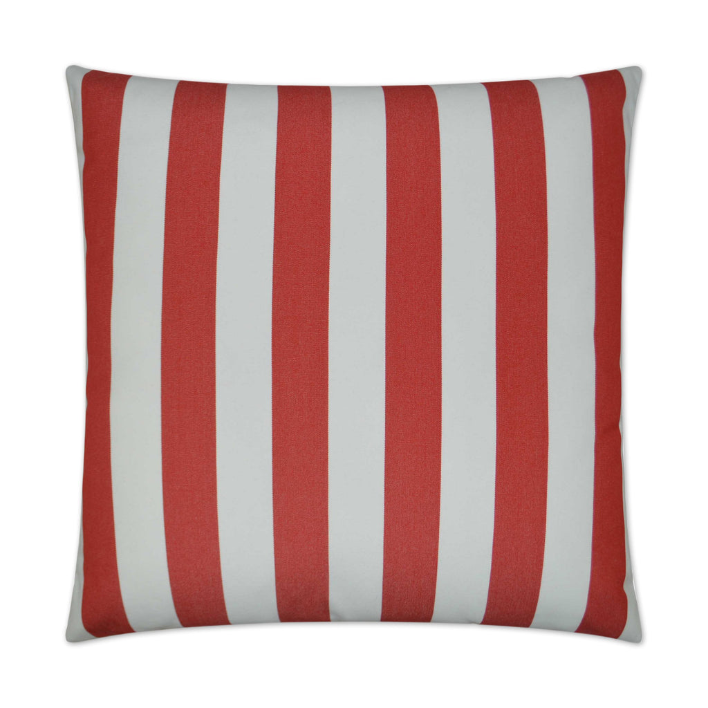 Café Stripe Pillow in Red
