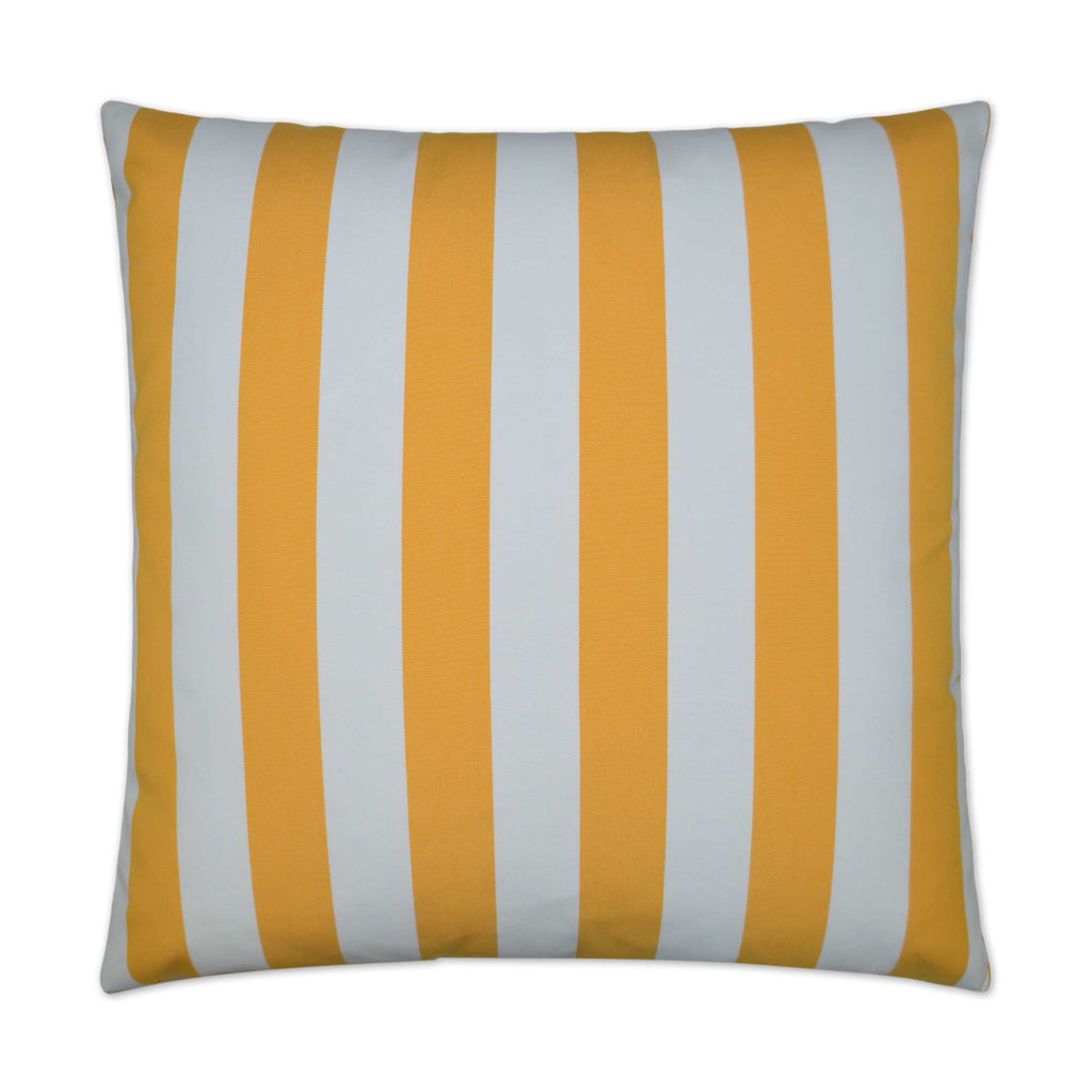 Café Stripe Pillow in Yellow