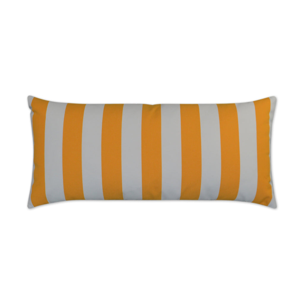 Café Stripe Lumbar Pillow in Yellow