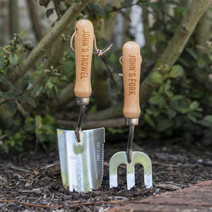 Quality Personalised Gardening Fork And Trowel Set - Smiley Moments