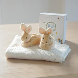 Adorable Peter Rabbit Booties with Rattle - Smiley Moments