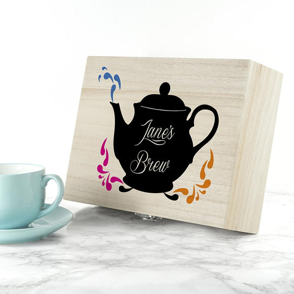 Fancy a cuppa? Personalised Tea Box - Smiley Moments