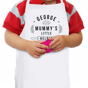 Personalised Child's Apron- Mummy's Little Helper - Smiley Moments