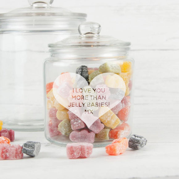 Personalised Glass Jar With Pretty Heart - Smiley Moments