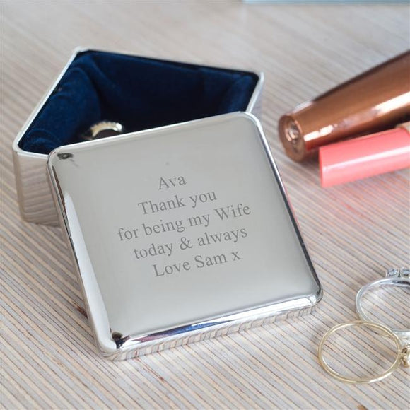 Personalised Square Trinket Box Keepsake