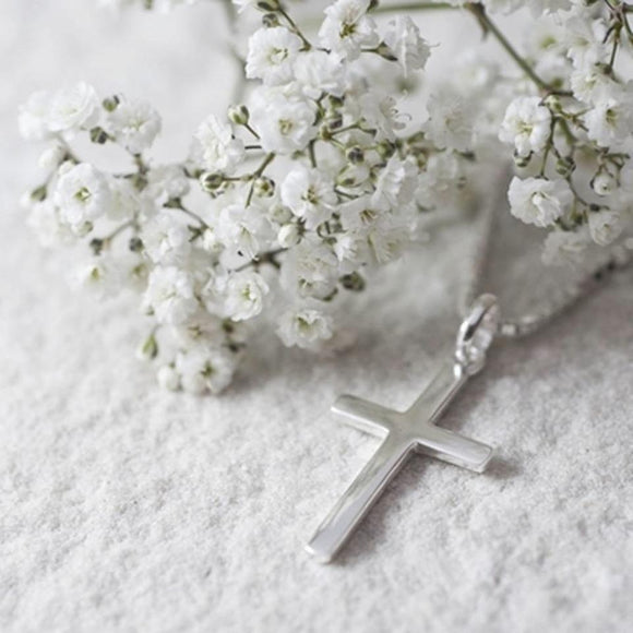 Pretty Silver Cross Necklace - Smiley Moments