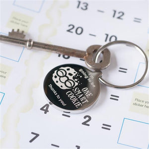 Smart Cookie Thank You Teacher Keyring - Smiley Moments