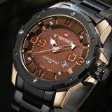 new NAVIFORCE watches men luxury brand military watch men full steel golden wristwatches fashion waterproof relogio masculino