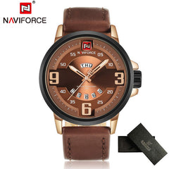 Mens Watches Top Brand Luxury NAVIFORCE Sports Watch Men Military Leather Quartz-watch Waterproof  Male Clock Relogio Masculino