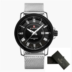 NAVIFORCE Luxury Brand Watch Men Mesh Strap Analog Date Quartz Watch Casual Clock Man Wristwatch Relogio Masculino Montre Homme