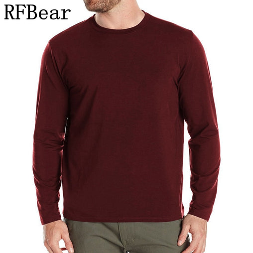 RFBEAR Brand Cotton men's Long sleeve t shirt men Tops Tees 2017 spring Fashion Autumn and winter Casual T-Shirt printing trend