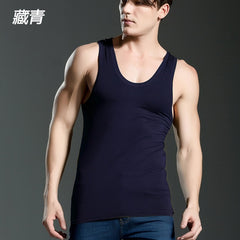 2018 Cotton Big Size Summer men clothing Tank Tops Black White Gray Singlets Sleeveless fitness men vest Bodybuilding t shirt