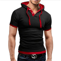 2018 New Men Tshirt Hooded Tees Hot Sale Summer Cool Design T-Shirt Homme Fitness Fashion Brand Clothing Male T Shirt Plus