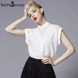 2018 Summer Style Blouse Women Fashion White Chiffon Elegant Shirt Female Work Wear Office Ladies OL Tops Women Clothing