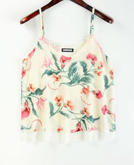 Tank Top Women Chiffon Blouses 2018 New Summer Sleeveless Shirt 2017 Floral Flower Cami Loose Female Top Vest Ladies Women Shirt