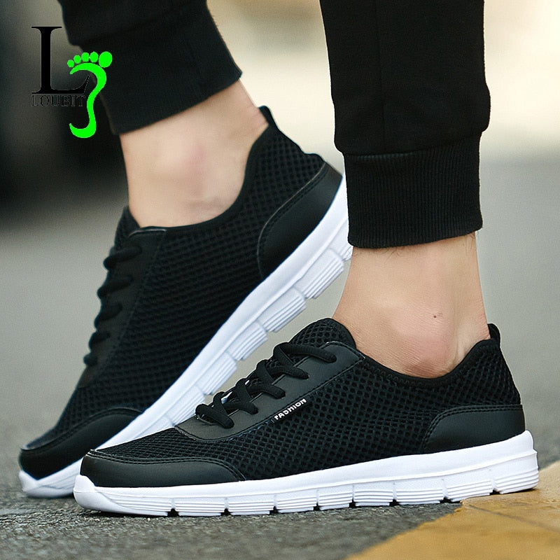 Men Shoes 2018 Summer Fashion Sneakers Breathable Casual Shoes Lace Up High Quality Sneakers Men Mesh Shoes Plus Size 35-48