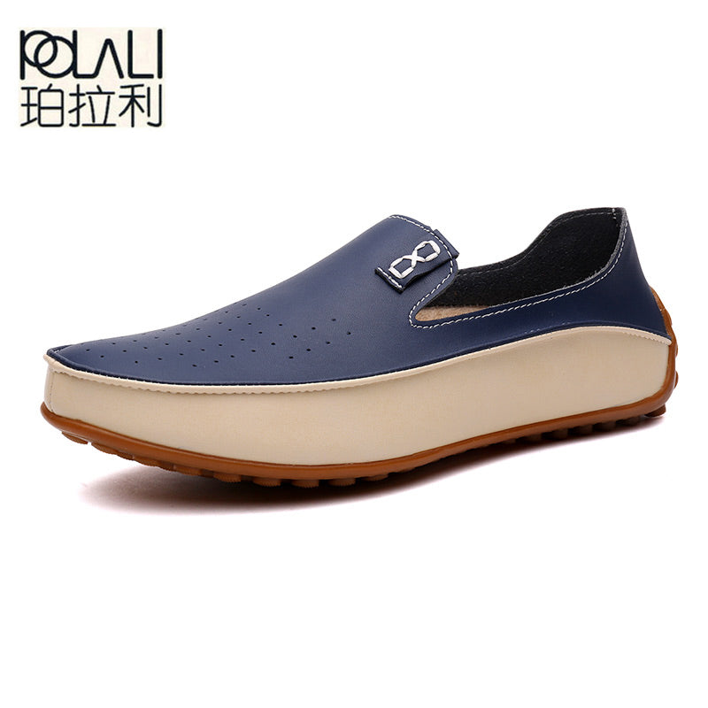 POLALI  2017 New Fashion Men Loafers Luxury Brand Flats Shoes for Men Driving Shoes PU Leather Loafers Men Casual Shoes 910673