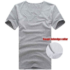 Mens Fitness T Shirts Summer tops Tees Stretch Fitted HipHop Men's t shirt Cotton short sleeve T-shirts Man big size UP to 6XL