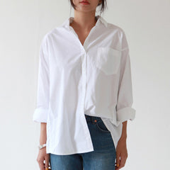 Casual Loose Women Shirts 2018 Autumn New Fashion Collar Plus Size Blouse Long Sleeve Buttons White Shirt Women Tops Streetwear