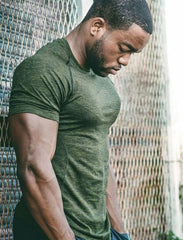 2018 New Gyms Tight elastic T shirt Men Compression Bodybuilding and Fitness Men's Singlets Short Sleeve T-Shirts