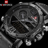 2018 Men Sport Watches NAVIFORCE Top Brand Waterproof LED Digital Watch Mens Luxury Analog Quartz Wristwatch Relogio Masculino