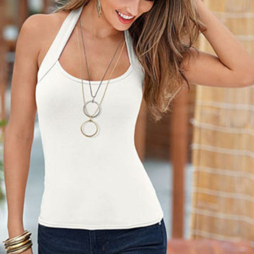 2017 Sexy Women Fashion Summer Vest Top T-Shirt Sleeveless Blouse Casual backless Tank Tops Femme Shipping From US